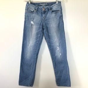 Aeropostale Jeans 4 Skinny Distressed Crop Bayla